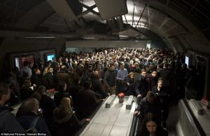 tube crowd 300x194 - TfL facing £400m budget hole as passengers desert 'rowdy and crowded' London Tube