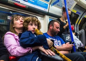 children tube 300x211 - Tube passengers air their biggest gripes including not taking your backpack off and annoyingly leaning against the pole