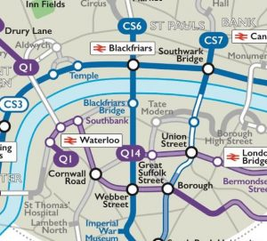 cyclewaymapbappz 300x271 - London Tube map app now also offers a cycle map