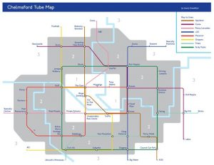 Chelmsford Tube Map new 300x232 - Hilarious parody Chelmsford tube map includes stops at 'binge drinking' and 'traffic'