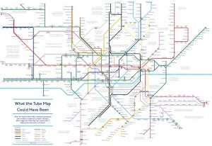 couldhave 300x206 - A Tube Map That Never Happened, Based On Plans From The 1940s