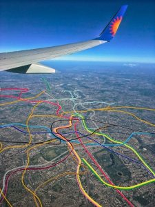 tube map above 225x300 - The Tube Map... As Seen From A Plane