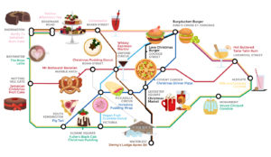 wren kitchens food tube map large 300x174 - Alternative Tube Map: Quirky Christmas Food