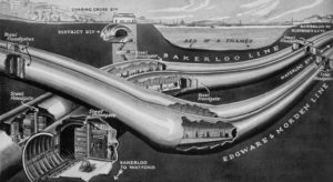 floodgate beneath thames 300x164 - More Amazing Cutaways Of London Underground Stations