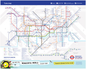 tube map december 2018 300x241 - London Underground releases a new tube map
