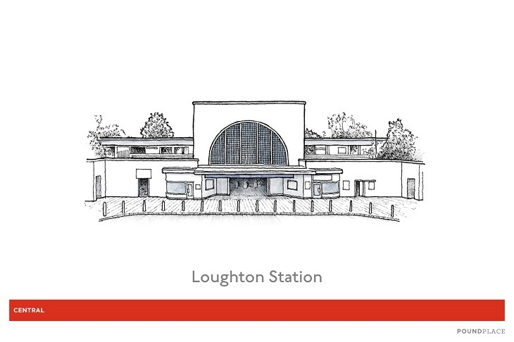 36 loughton station illustration - Someone Has Illustrated 82 Of The Underground's Prettiest Stations