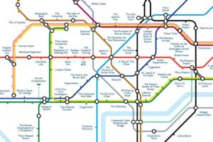 tubemapcentral1 300x200 - 'Literature' Tube map replaces stations with titles of books set in the area