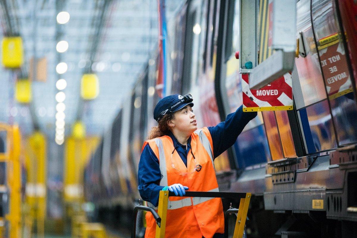 Tube engineer at Ealing Common Depot - Tube trivia and facts - Made by TfL