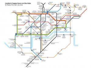 happy hour tube 2907a 300x225 - This Tube map shows the nearest happy hour to each London Underground station
